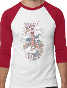 Whales and Waves Men's Baseball ¾ T-Shirt