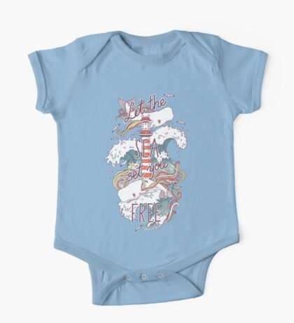 Whales and Waves One Piece - Short Sleeve