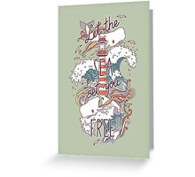 Whales and Waves Greeting Card