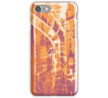 Colorful watercolor painting with classical building detail iPhone Case/Skin