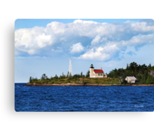 Copper Harbor Lighthouse Michigan USA Canvas Print