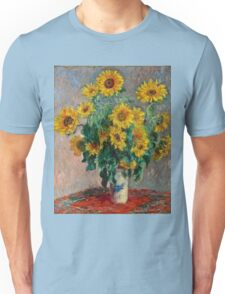 Claude Monet - Sunflowers  Unisex T-Shirt
