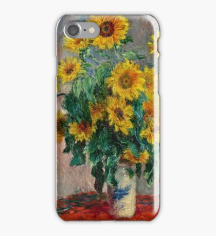 Claude Monet - Sunflowers  iPhone Case/Skin