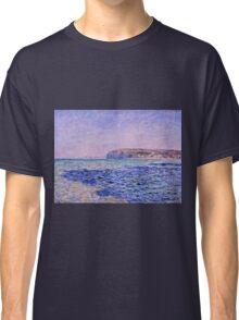 Claude Monet - Shadows on the Sea  The Cliffs at Pourville (1882)  Classic T-Shirt
