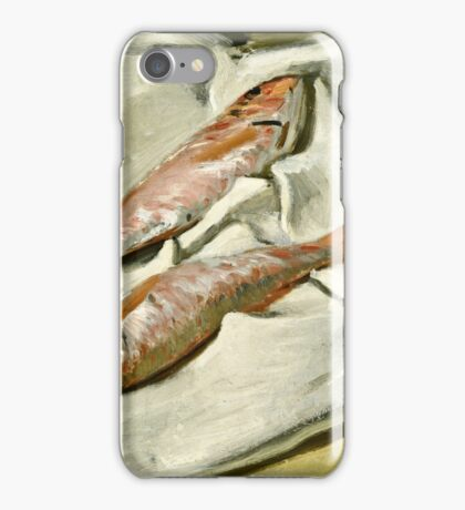 Claude Monet - Red Mullets ( 1870)  iPhone Case/Skin