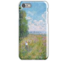 Claude Monet - Meadow With Poplars iPhone Case/Skin