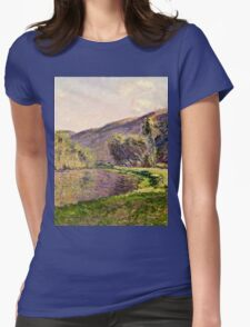 Claude Monet - Jeufosse, The Effect in the Late Afternoon (1884)  Womens Fitted T-Shirt