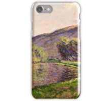 Claude Monet - Jeufosse, The Effect in the Late Afternoon (1884)  iPhone Case/Skin