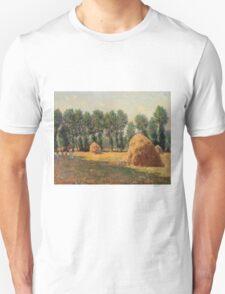 Claude Monet - Haystacks At Giverny  Unisex T-Shirt