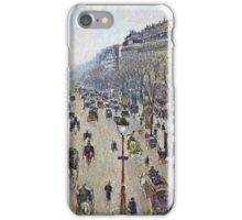 Camille Pissarro - Boulevard Montmartre, morning, cloudy weather (1897)  iPhone Case/Skin