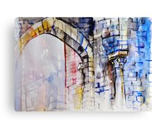 Colorful watercolor painting with classical building detail Canvas Print