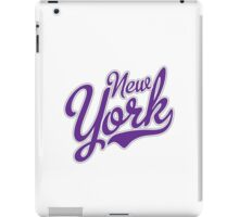 New York Script Blue  iPad Case/Skin