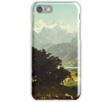 Albert Bierstadt - Lake Lucerne (1858)  iPhone Case/Skin