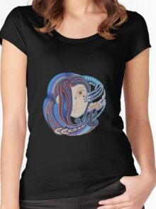 DMT space angel Women's Fitted Scoop T-Shirt