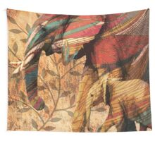 Patterned African Elephants Wall Tapestry