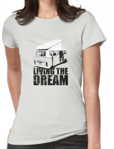 VW Camper Open Roof Living The Dream Womens Fitted T-Shirt