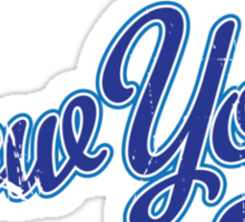 New York Script Blue VINTAGE Sticker