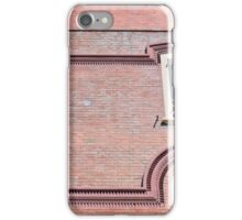 Facade detail with decorative windows and red brick  iPhone Case/Skin