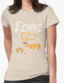 Funny Dog T-Shirt Womens Fitted T-Shirt