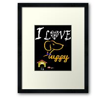 Funny Dog T-Shirt Framed Print