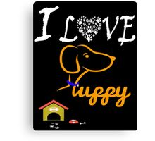 Funny Dog T-Shirt Canvas Print