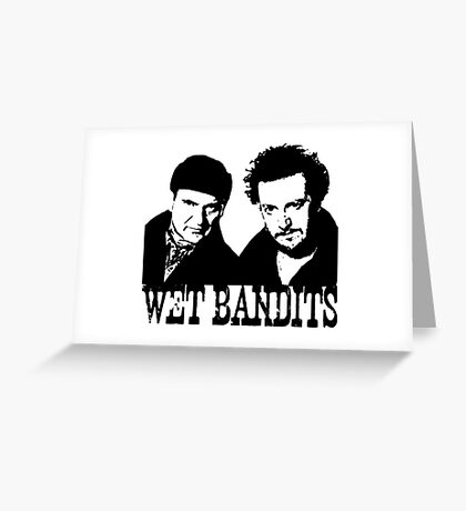Home Alone Wet Bandits Greeting Card