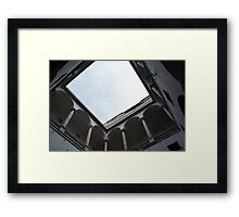 Inner portico with arches Framed Print