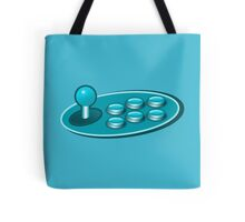 Old school gamer fighting stick Tote Bag