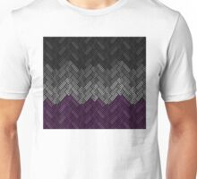 Asexual Diamond Weave Pattern Unisex T-Shirt