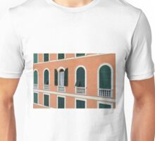 Orange Italian facade with arched windows Unisex T-Shirt