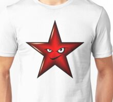 Red Star Smiley Unisex T-Shirt