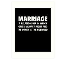 Marriage Art Print