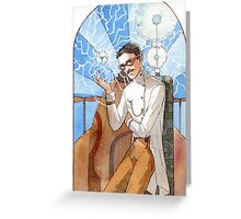 Nikola Tesla - The Magician Greeting Card