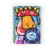 King duck is rising Spiral Notebook