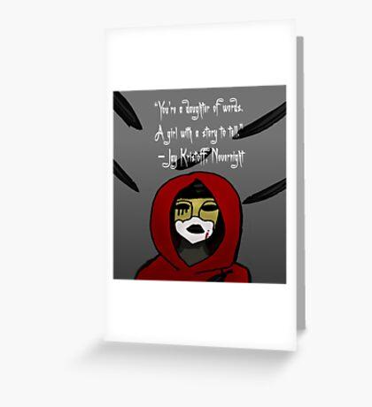 Nevernight Mia Greeting Card