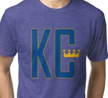 KC MONOGRAM 2 Royal Tri-blend T-Shirt