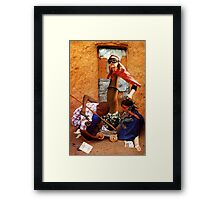 Spending Time with the Children of the White Foot Clan Framed Print