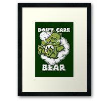 Don't Care Bear Framed Print
