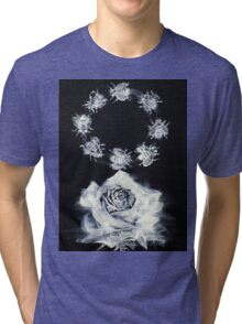 ROSE AND CIRCLE OF BEES Tri-blend T-Shirt