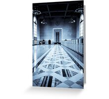 Old Ticketing Hall - Union Station - Los Angeles Greeting Card