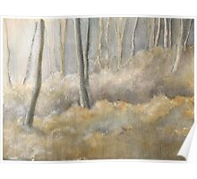Forest frost mixed media & watercolour Poster