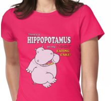 This Hippo eats Cake Womens Fitted T-Shirt