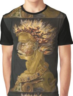 Giuseppe Arcimboldo - Fire - From The Four Elements 1566 Graphic T-Shirt