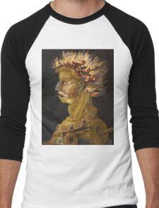 Giuseppe Arcimboldo - Fire - From The Four Elements 1566 Men's Baseball ¾ T-Shirt