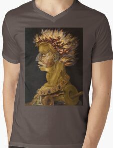 Giuseppe Arcimboldo - Fire - From The Four Elements 1566 Mens V-Neck T-Shirt
