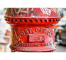 Post Office Pillar Box  Photographic Print