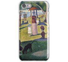 Georges Seurat -  A Sunday on La Grande Jatte -  1884 (1884 - 1886)  iPhone Case/Skin