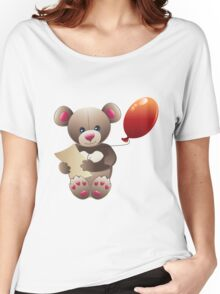 Brown Teddy Bear Women's Relaxed Fit T-Shirt