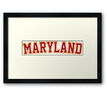 Maryland Framed Print