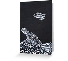 LIZARD AND THE RED BARON Greeting Card